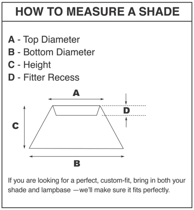 Lampshades a shade better lamps and lampshades in the meantime gaining a better understanding of how to measure your current lampshade can help you know how to start searching for its replacement mozeypictures Images